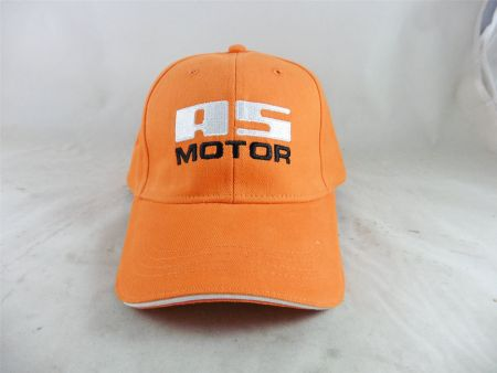 AS Motor Baseball Cap AS Logo Basecap Kappe orange