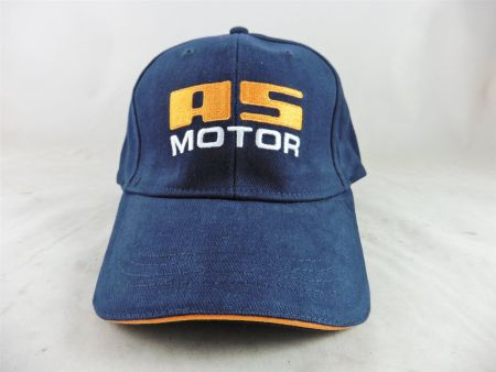 AS Motor Baseball Cap AS Logo Basecap Kappe navy-blau
