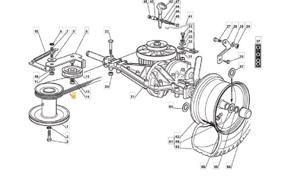Keilriemen Fahrantrieb passend Castelgarden F72 Hydro Rasentraktor