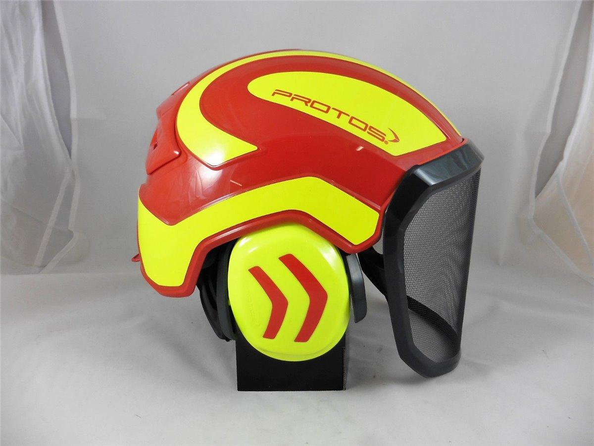 F39 Protos Integral Forest Forestry Helmet Visor White//Yellow
